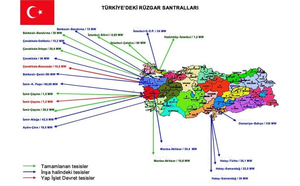 Türkiye'de Rüzgar Santralleri Resim
